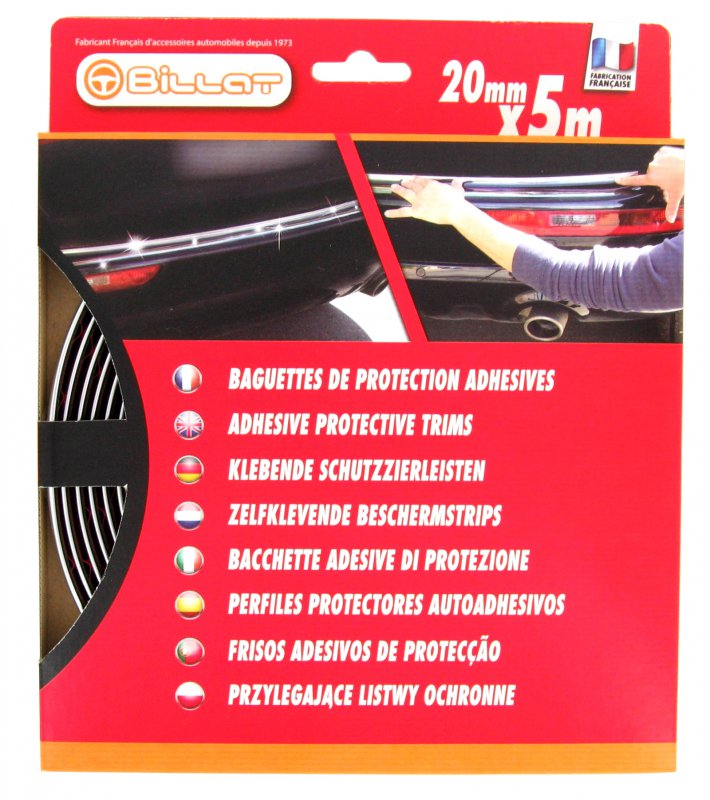 Baguette de Protection Chromée 20mm X 5m