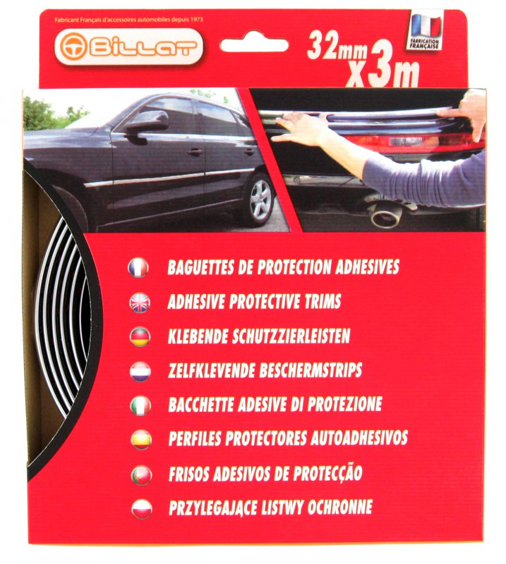 Baguette de Protection Chromée 32mm X 3m