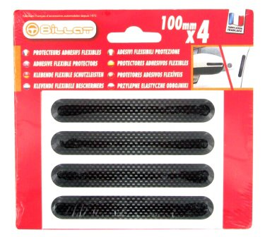 4 resin door guards 100 mm - carbon - header card
