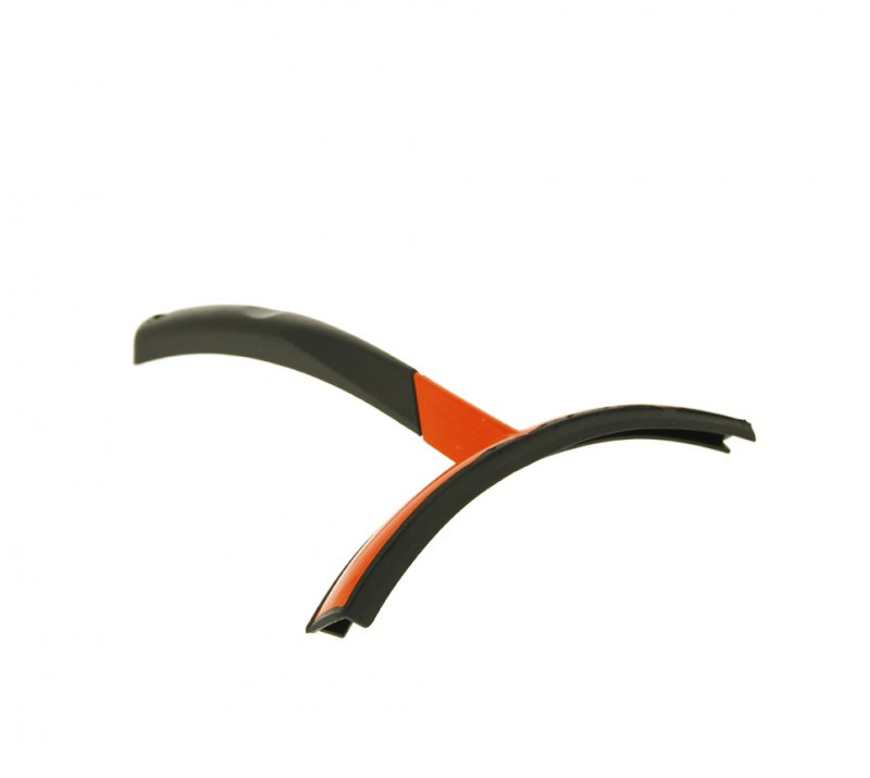Black and orange double-bladed